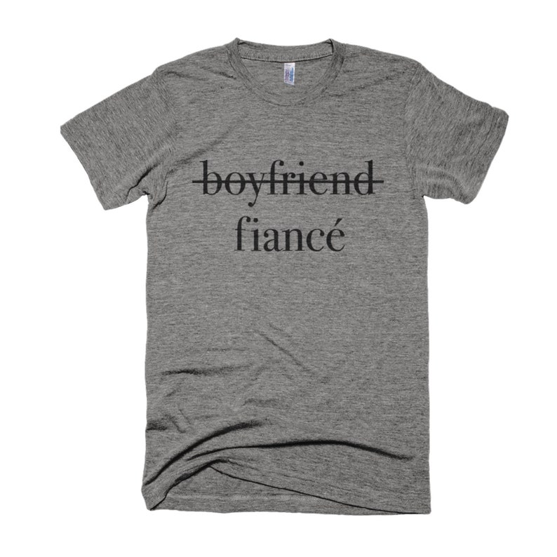 Boyfriend to Fiancé Shirt-Engagement Shirt boyfriend shirt image 0