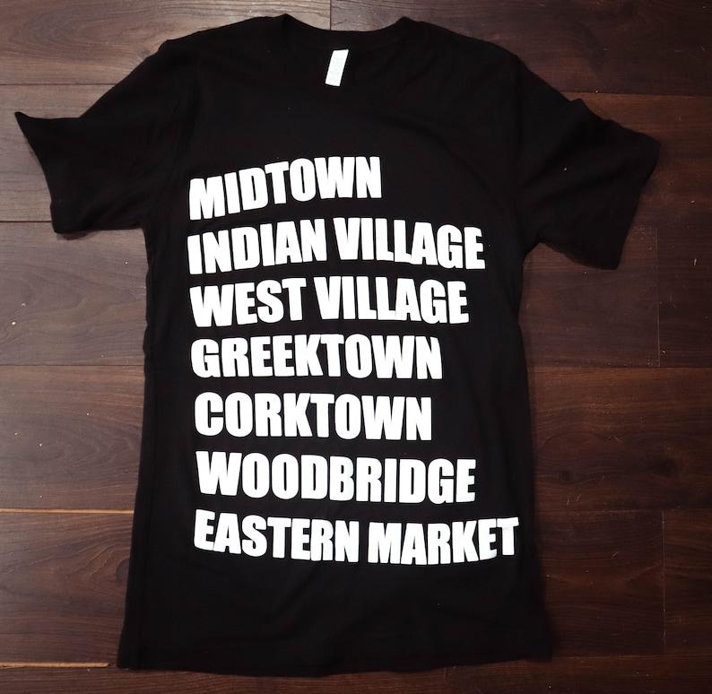 Detroit Michigan Neighborhood T-Shirt/ Michigan T-Shirt / image 0