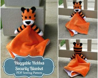 Huggable Tiger Security Blanket Pattern - PDF Instant Download