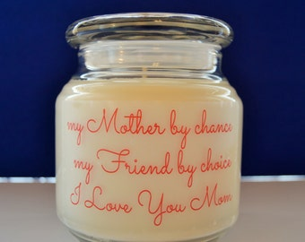 Express Yourself With Candles 100% Soy I Love You Mom Your Choice Of  Fragrance 16 Ounce Made To Order