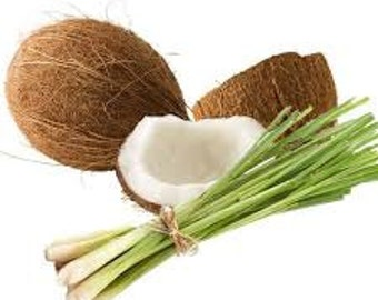Coconut Lemongrass Fragrance Oil Use To Make Soap Candles Personal Fragrance Diffuse Air Freshener Bubble Bath Hair Care Products