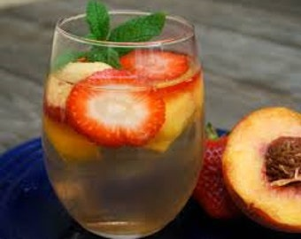 Sangria White Peach Premium Fragrance Oil  16 oz - 8 oz. - 4 oz - 2 oz  - 1 oz. - 1/2 oz.Bottle Or 1/3 Ounce Roll - On
