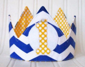 Sailing Nautical First Birthday Crown, First Birthday Crown, First Birthday Hat, cake smash, photo prop, party decorations, handmade gift