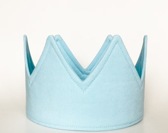 Light blue birthday party crown decorations dress up party outfit