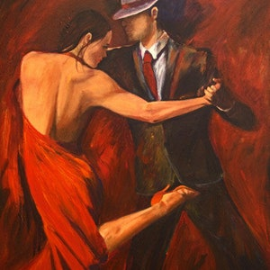 Tango Dancers Art Print On Paper Argentine Tango Dancer In Etsy
