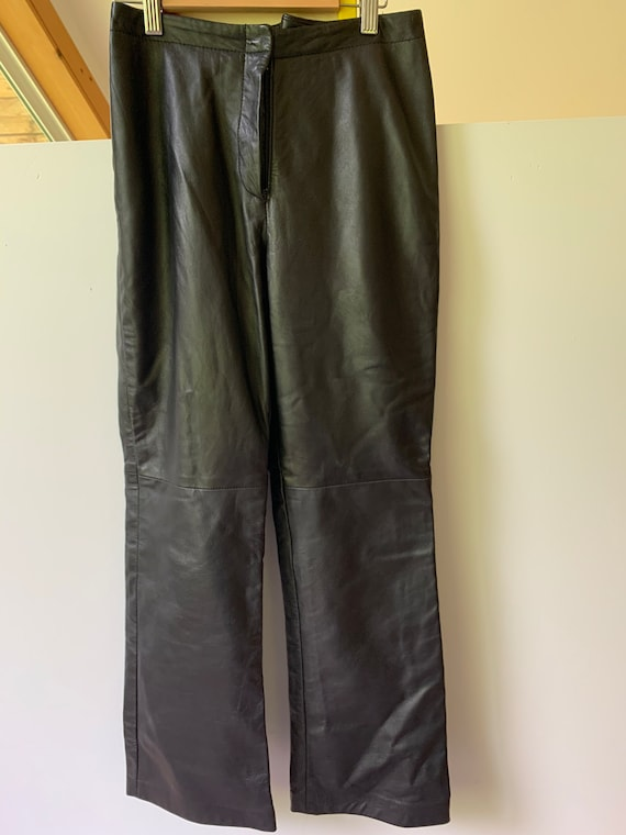 Danier Leather Bootcut leather pants