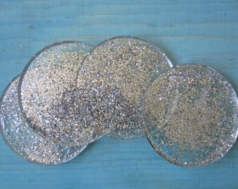 Sparkly Glitter Coasters - Set of 4