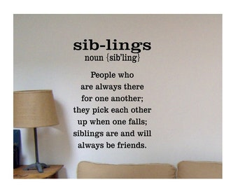 sister wall decal family wall quote sign vinyl decal sticker