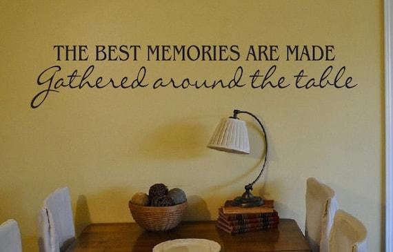 Keuken eetkamer muur quote teken vinyl decal sticker familie etsy