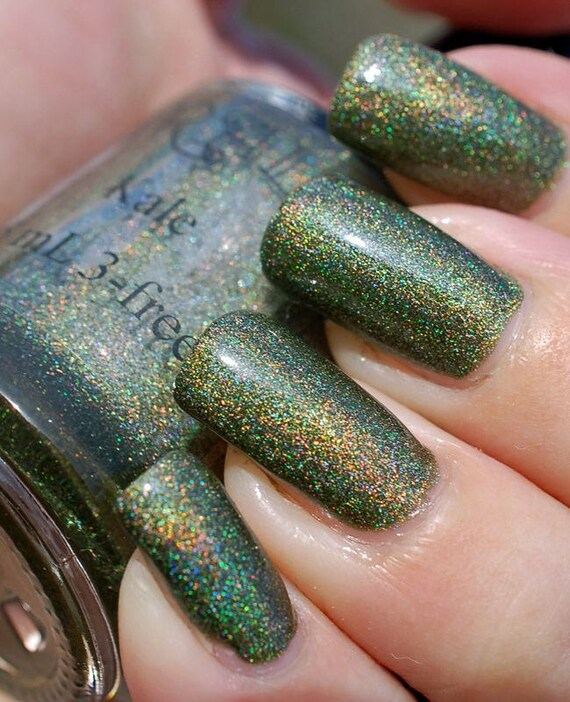 Kale. Dark green holo nail polish. (15 mL, .5 oz) from ...