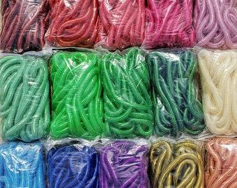 Metallic Tubular Crin, Cyberlox, Crinoline - Multiple Colors - for Hair Falls, Bows, Wreaths, Gift Wrapping