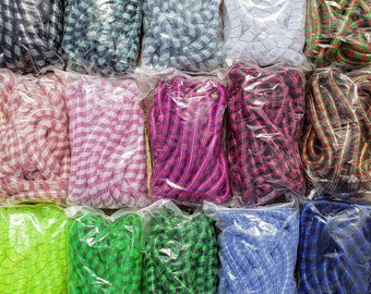 Striped Tubular Crin, Cyberlox, Crinoline - Multiple Colors - for Hair Falls, Bows, Wreaths, Gift Wrapping