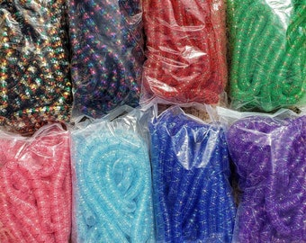 Criss Cross Tubular Crin, Cyberlox, Crinoline - Multiple Colors - for Hair Falls, Bows, Wreaths, Gift Wrapping