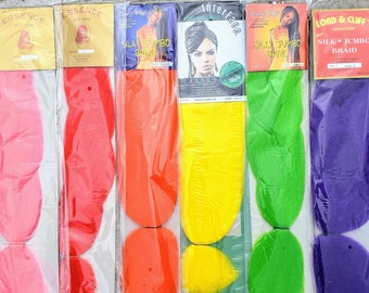 2-PACK PP Braiding Hair - Multiple Colors - 100% Synthetic Jumbo Braid