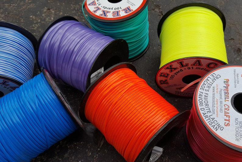 Rexlace Spools  Multiple Colors  100 yard 300 feet of image 0