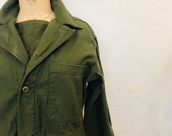 33d25d3dfc7d Vintage Military Issue Army Green Flight Suit Jumpsuit Fatigue Romper