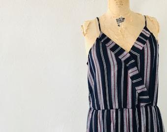 c4025fb2687f Vintage Striped Billie Jumpsuit Navy Romper