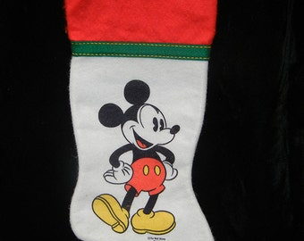 Vintage Disney Mickey Mouse Christmas stocking 1990s