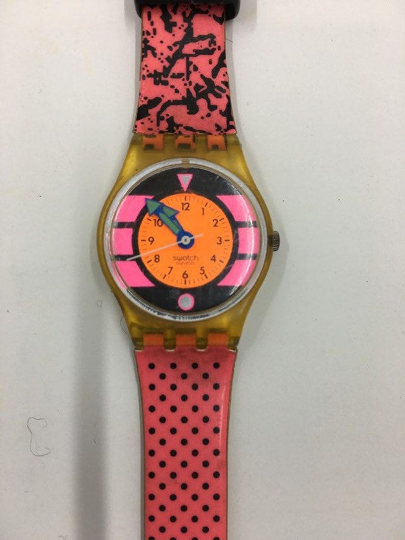 Vintage Swatch Watch Pink Betty Lk118 Etsy