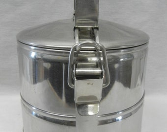Vintage Stainless Steel Tiffin Bento Stacking Lunch Box