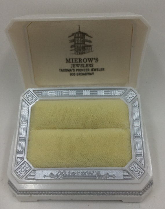 Vintage White Celluloid Ring Box