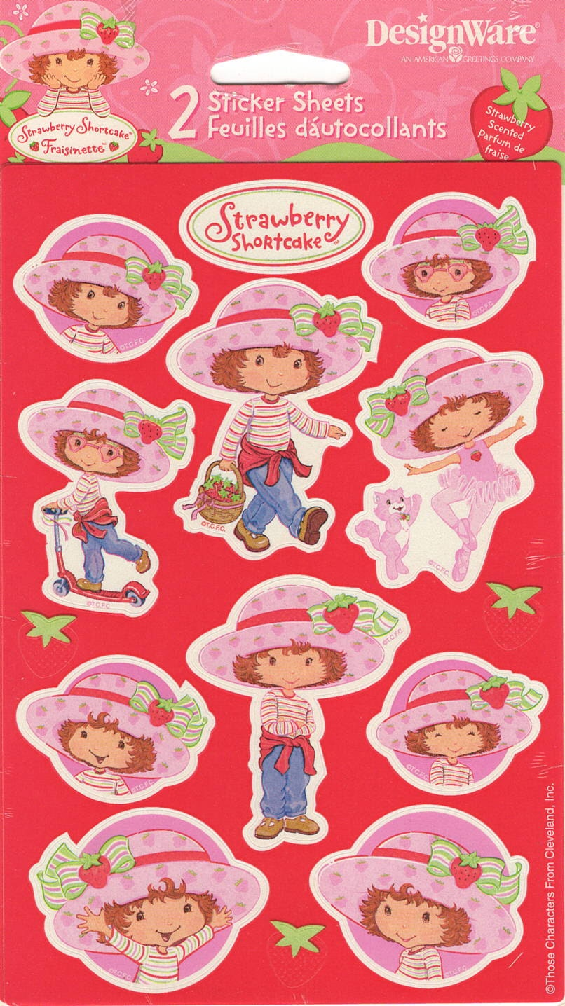 Strawberry Shortcake Stickers Tcfc Designware 2003 Those Etsy