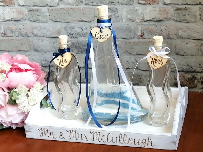 Sailing boat Shaped Family Unity Wedding Ceremony Sand Set. image 0