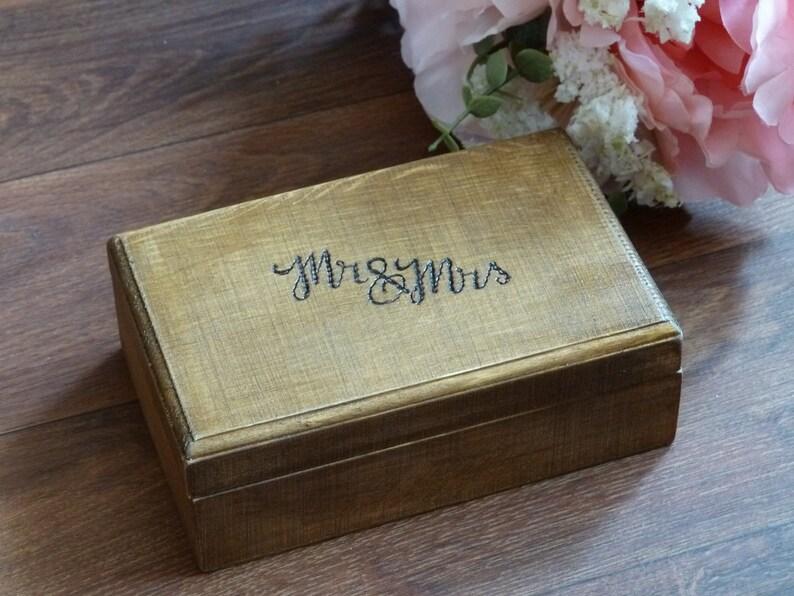 Portador De Anillo De Boda De Corazón De Madera Personalizado Caja Caja de propuesta recuerdo grabado