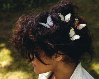 Boho hair, butterfly hair grips, bridesmaid butterflies, butterfly, butterfly hair slide, butterfly hairpin, butterfly bobby pin