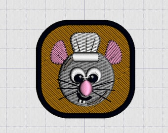 Merit/Emoji Badges - Ratatouille design - iron on embroidery patch