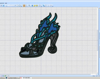Embroidery Iron-on Patch - Hades shoe