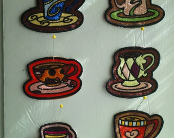 Sew-on patches - mocha madness