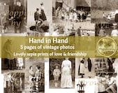 VINTAGE Photo Digital Download HAND in HAND | Friendship Image | Printable Vintage Photos | Junk Journal Printable Ephemera