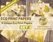 Eco Dyed Nature Prints Digital Download Junk Journal Pages (SET 2)