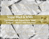 BLACK & WHITE LINED Journal Pages | Eco Print Digital Printable | Eco Dyed Leaf Prints (Soquel)