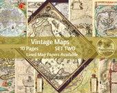 Vintage Maps Printable Journal Pages | Travel Digital