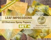 Leaf Impressions Digital Paper Download Collage Sheet Junk Journals (SET 4)