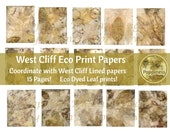 ECO DYED DIGITAL | Eco Print Junk Journal Pages (West Cliff) Has matching lined paper