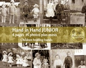 VINTAGE Photo Digital Download Hand in Hand JUNIOR | Children Holding Hands | Printable Vintage Photos | Junk Journal Printable Ephemera
