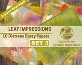 Leaf Impressions Digital Paper Download Collage Sheet Junk Journals (SET 3)
