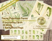 VINTAGE FERN PRINTABLE Paper   Botanical Paper Junk Journal Collage Pages