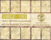 LINED Paper Eco Dyed Nature Prints Digital Download Junk Journal 15 Pages (SEABRIGHT LINED) coordinates with Seabright Eco Prints Planner