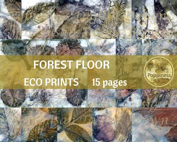 10 pages Eco Dyed Paper Printable Mixed Media Digital Eco Prints Kit Art Journaling Junk Journal Supplies Ephemera- Scrapbooking