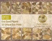 Eco Dyed Nature Prints Digital Download Junk Journal 15 Pages (APTOS)