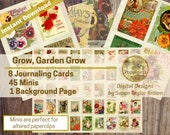 Digital Vintage Garden Catalog Paper   Download Botanical Junk Journal Pages