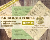Printable Quotes about POSITIVE THINKING, Digital Collage Sheet Junk Journals (SET 3)