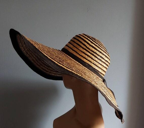 Extra wide brim Italian straw hat. - image 9
