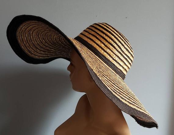 Extra wide brim Italian straw hat. - image 4