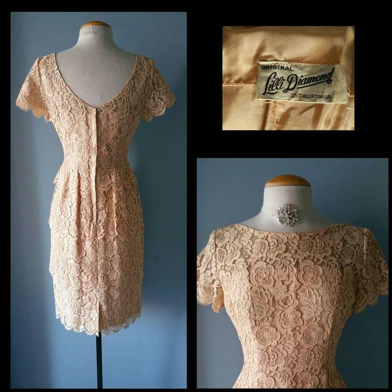 Vintage lace Lilli Diamond cocktail dress