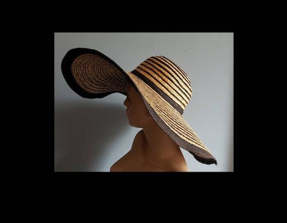 Extra wide brim Italian straw hat. - image 1